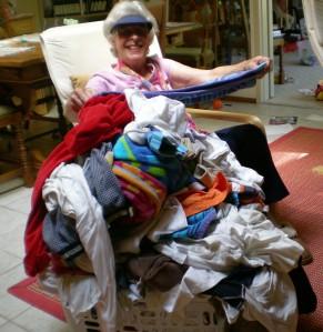 Ruth Folding My Laundry