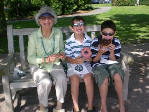 My Dr. MIL Ru and her vicitms..urrr..GRANDSONS