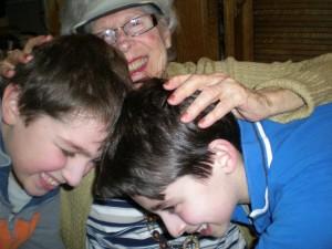 Alien Dude and Smart Alec with granny Ru