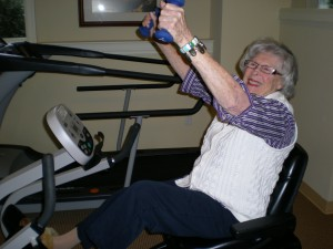 My MIL Ru working out HARD