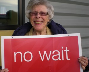 My MIL Ru waits.. for NO ONE!