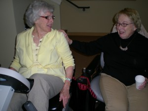 My MIL Ru (left) and coach granny Marnie (right)